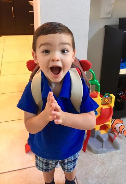 Barclay first day of preschool