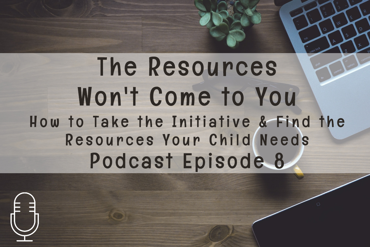 Podcast 08: The Resources Won't Come to You:  How to Take the Initiative to Find the Resources Your Child Needs