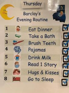 Barclay's Evening Routine